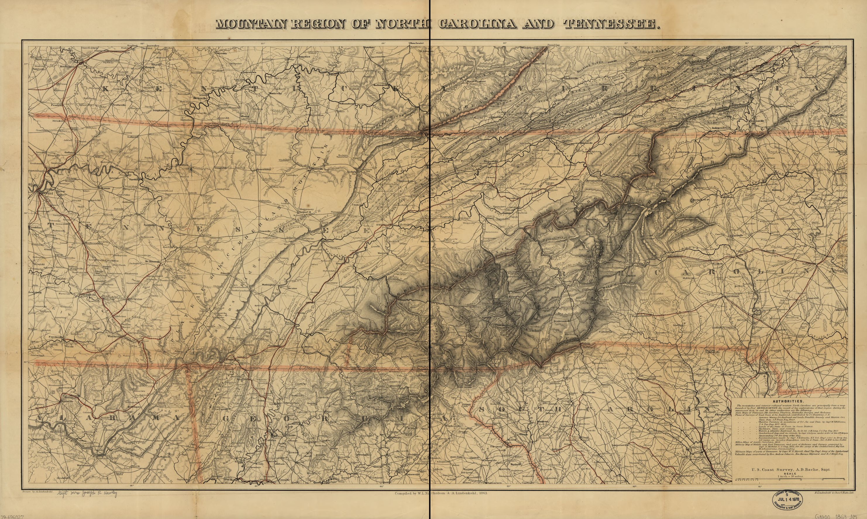 Lincoln maps and the invasion of East Tennessee Mapping the