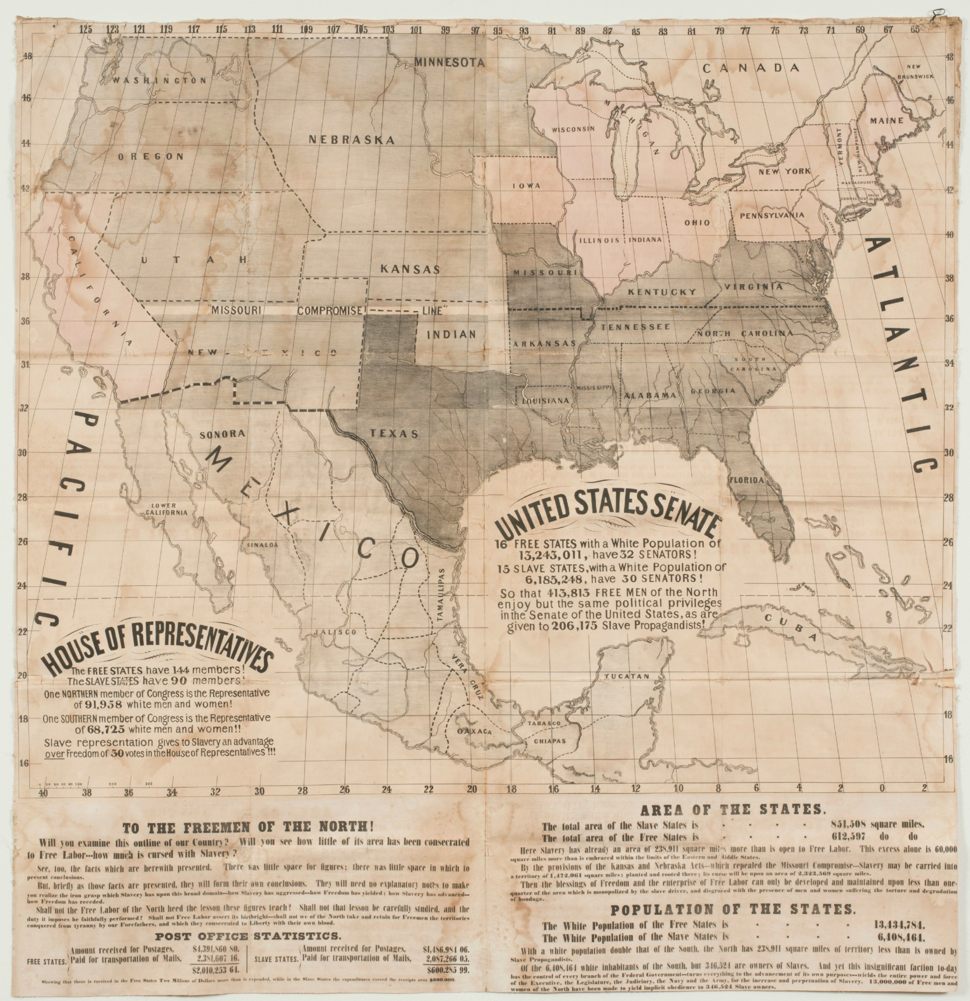 Abolitionist wall map Maclean Collection 2013 resized small