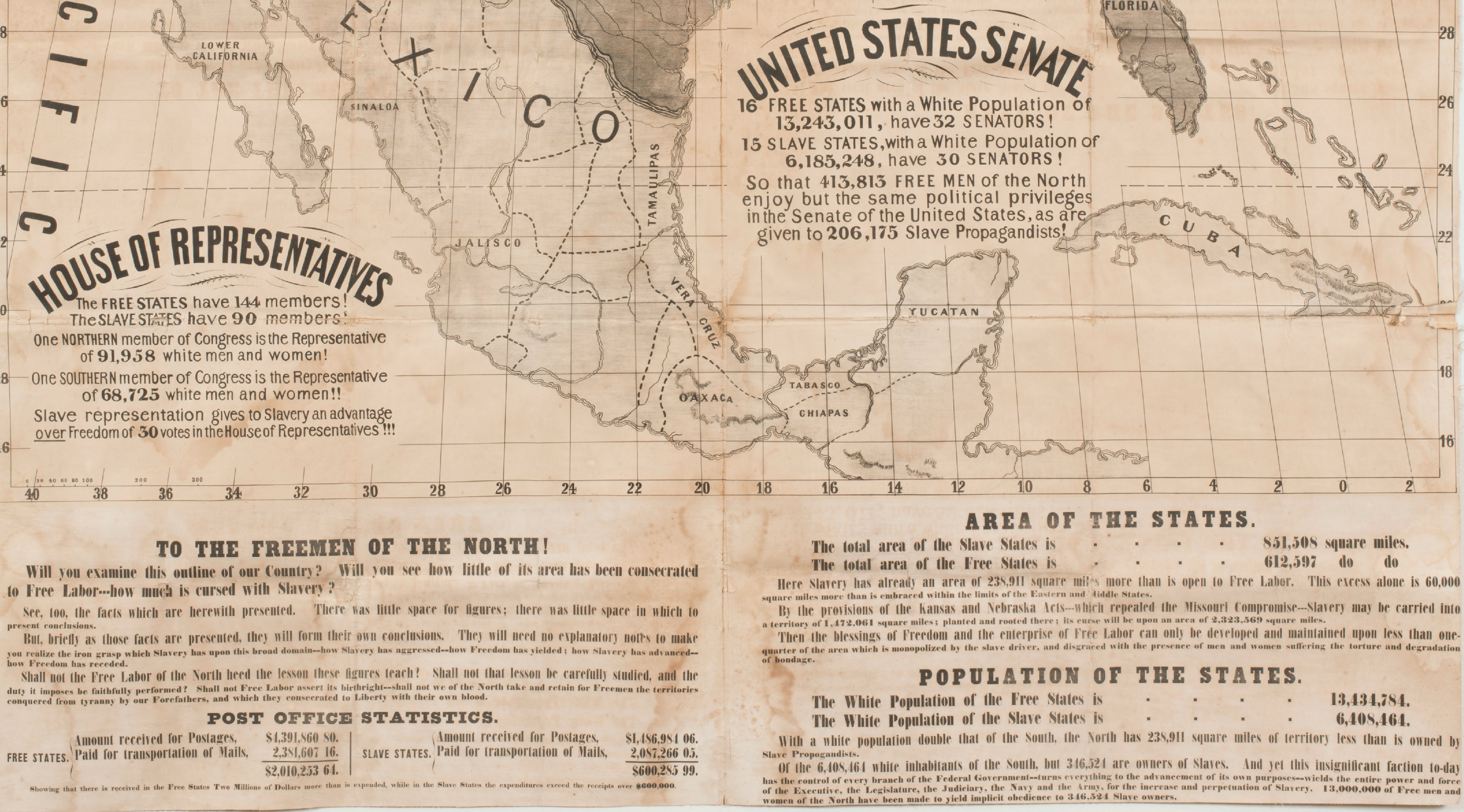 Abolitionist wall map text