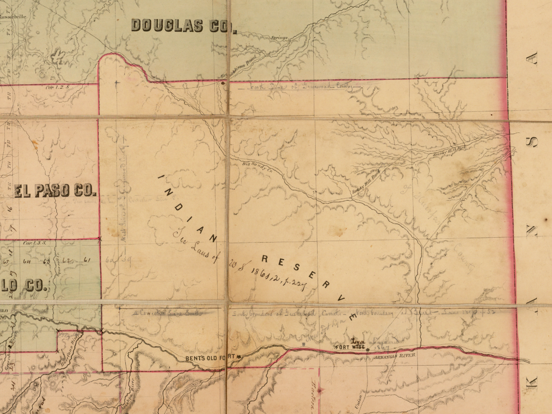 Se Colorado Map.Mapping Early Colorado And The University Of Denver Mapping The