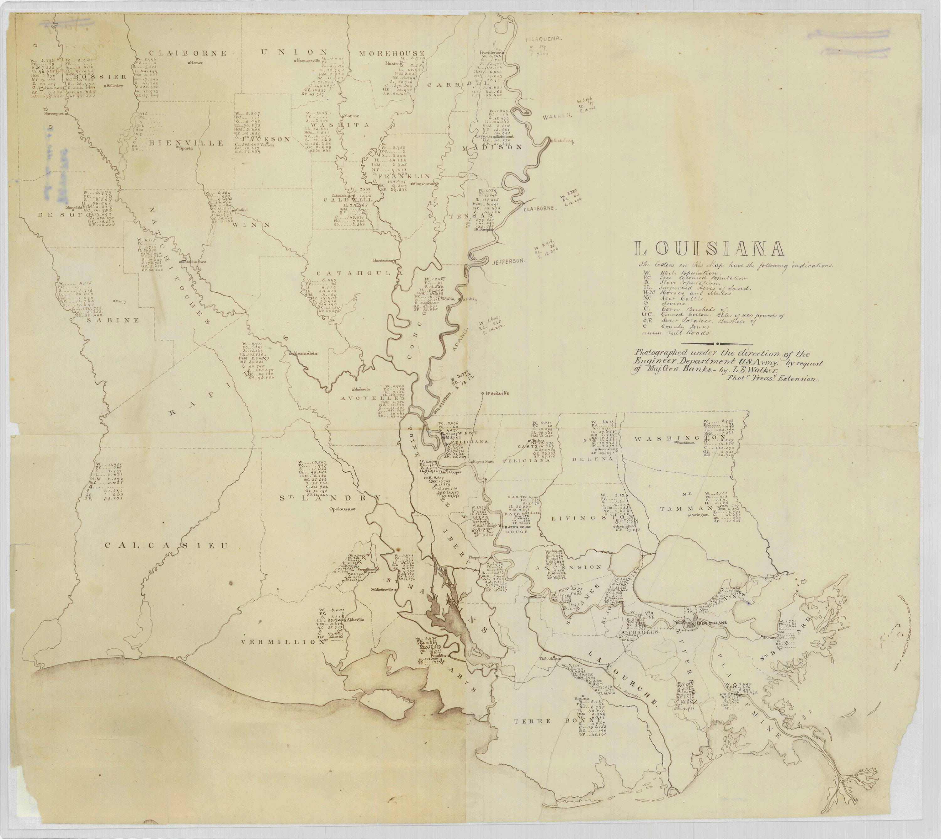Civil War Louisiana, measured and mapped - Mapping the Nation Blog on