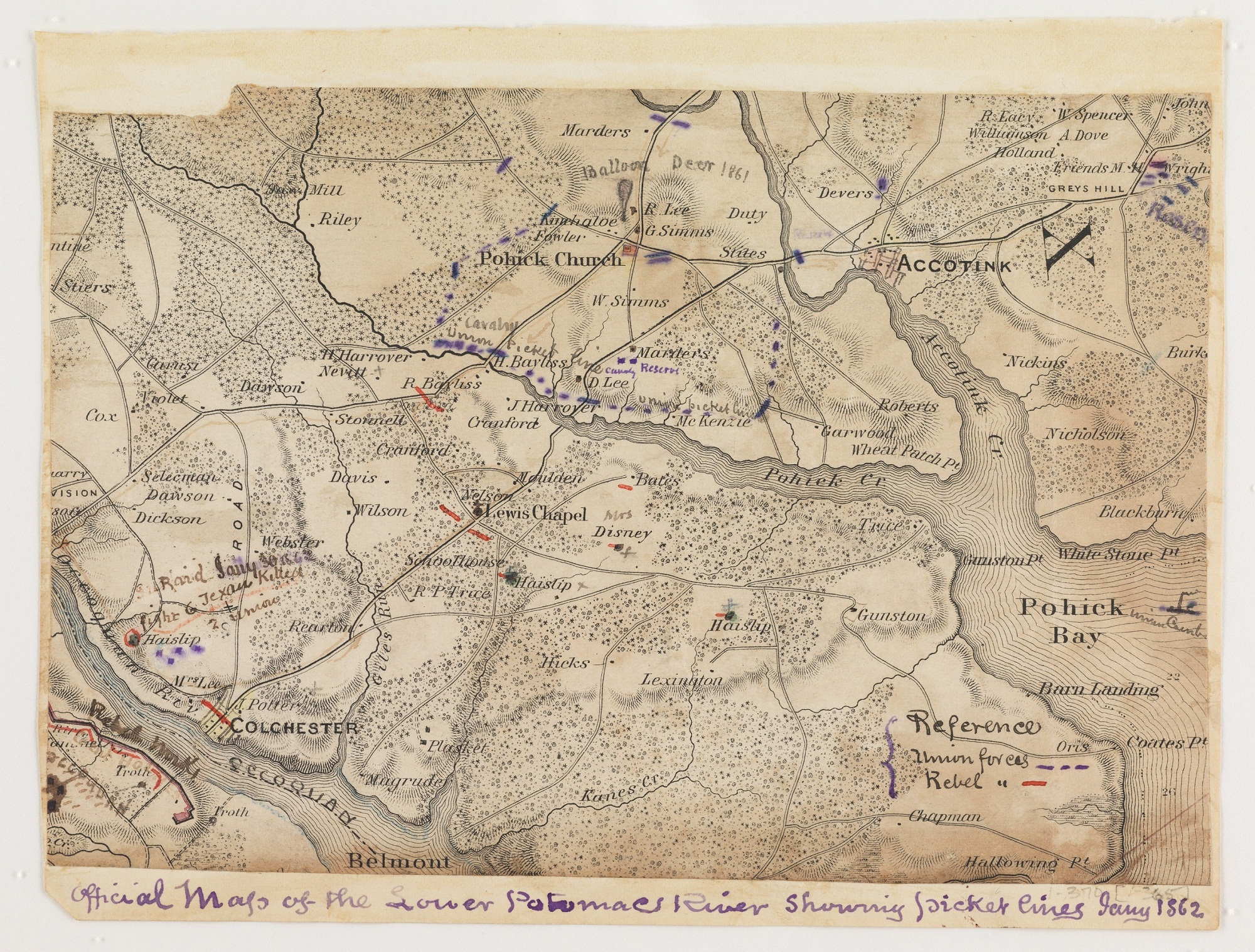 Civil War maps at the Library of Congress Mapping the Nation Blog