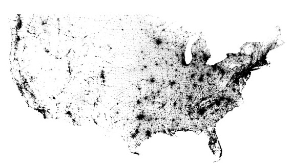 Population dot map